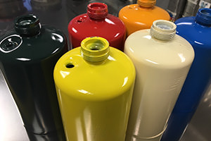Colored Propane Cylinders