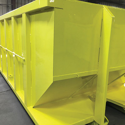 Yellow Refuse Container